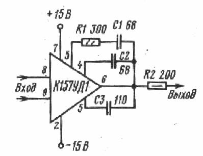 Примеры включения К157УД1