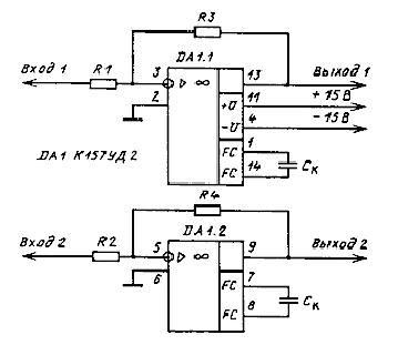 Микросхема уд2а схема