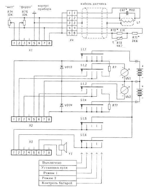 Схема внешних соединений.