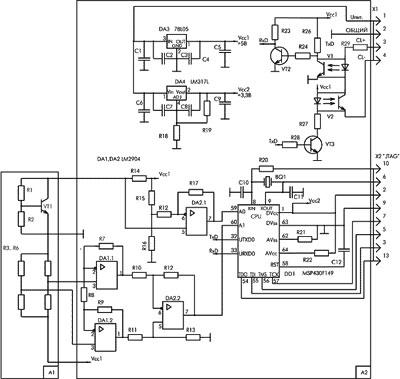 Схема устройства коррекции