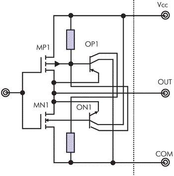 Эквивалентные схемы, учитывающие эффект защ лкивания IGBT-транзисторов.