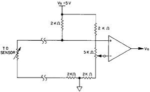 Пороговая схема включения для контроля фиксированной температуры.