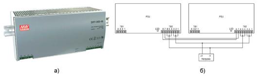Рис. 3. Источник питания DRT-960P-XX: а) внешний вид, б) схема...