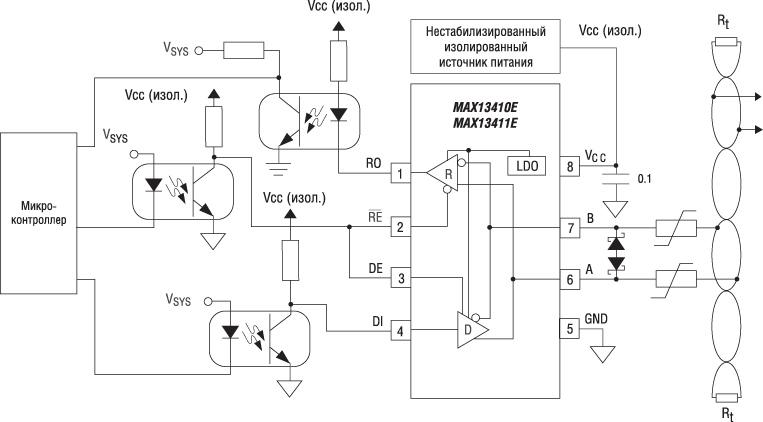 схема гальванической развязки 4-20