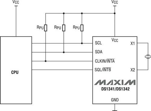 Микросхемы часов реального времени с малым энергопотреблением- DS1341/42.