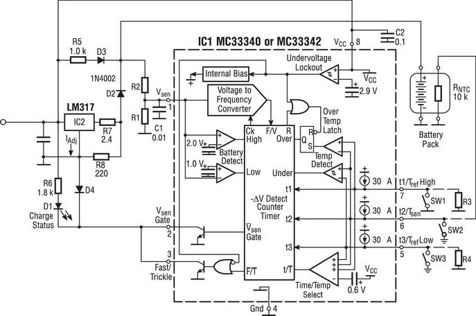 Пример такой зарядной схемы с использованием классического...