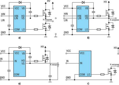 Упрощенные схемы управления MOSFET- и IGBT-транзисторами