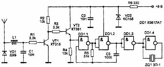Схема простейшего детектора